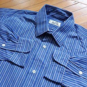 Hermes Striped Mens Sz 40 Button Down Dress Shirt